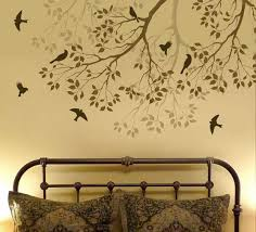 wall stencils for bedrooms wall stencil spring songbirds reusable stencils better than