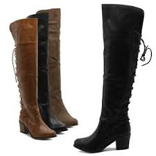 womens boots zip up back ollio shoe back lace up the knee zip up