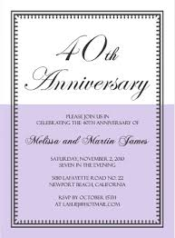 wedding invitation sayings 40th anniversary invitation wording