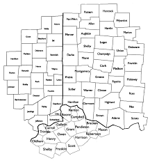 map of counties in ohio indiana and ohio county map indiana map