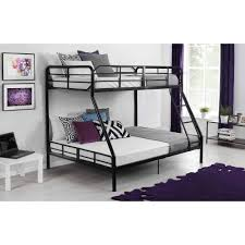 Crib Mattress Bunk Bed by Mainstays Twin Over Full Metal Bunk Bed Black Walmart Com