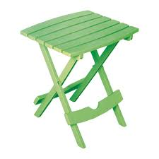folding outdoor side table adams manufacturing quik fold summer green resin plastic outdoor