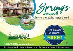 spring landscaping proven landscape and lawn care marketing postcardmania