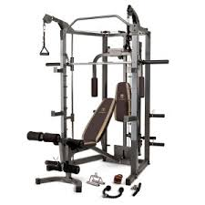 Weider Pro 256 Combo Weight Bench Amazon Com Marcy Smith Machine With Bench And Weight Bar U2013 Home