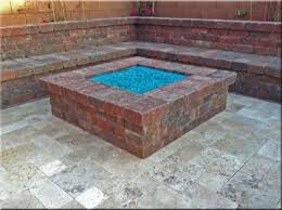 fire pit made of bricks square brick fire pit designs diy paver patio design with seat