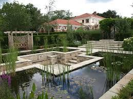 Sunken Patio Formal Pond Design With Sunken Patio Area Landscape Garden