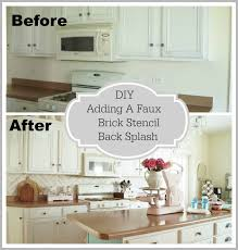 faux brick backsplash in kitchen faux brick backsplash modest simple home interior design ideas