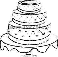 birthday cake vector sketch stock photos u0026 birthday cake vector