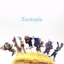 aliexpress com buy 24pcs zootopia cupcake inserts card kids