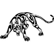 tribal defending panther design window
