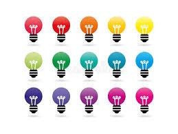 Spectrum Lighting Rainbow Spectrum Light Bulb Icons Stock Vector Image 43962093