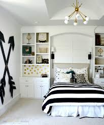 black and white design bed cover for teenage bedroom ideas