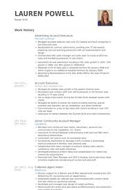 account executive resume advertising producer sle resume advertising account