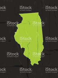 Map Of Illinois State by Detailed Map Of Illinois State Grunge Style Stock Vector Art