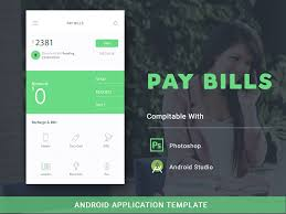 Be Like Bill Android Apps - pay bill android app template uplabs