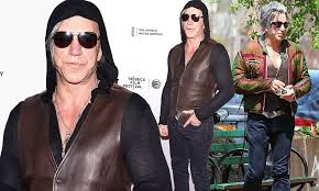 Mickey Rourke News Newslocker - mickey rourke takes his leather waistcoat from day to night daily