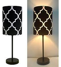 Black Table Lamps Amazon Com Urban Shop Black And White Striped Table Lamp Toys
