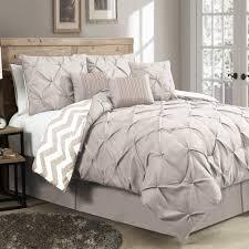 Taupe Comforter Sets Queen Bedroom Tj Maxx Duvet Covers Pintuck Bedding Set Pintuck