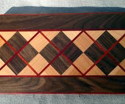 how to make a fabulous argyle cutting board eye protection step