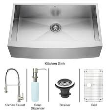 vigo vg15139 all in one 36 farmhouse stainless steel kitchen sink