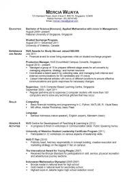 Study Abroad On Resume News Photographer Resume Sample Objective On Resume For