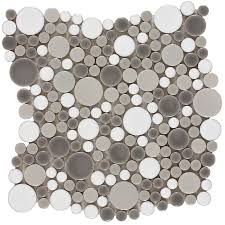 Wall Tiles by Shop Elida Ceramica Rounded Blend Circular Mosaic Porcelain Wall