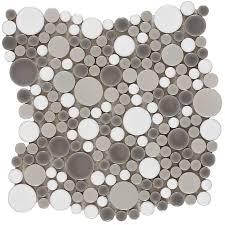 shop elida ceramica rounded blend circular mosaic porcelain wall