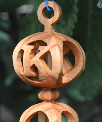 handmade 3d wooden ornament with initial or by treeformation