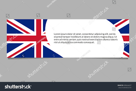 Beitish Flag Uk Flag Banner Header Template British Stock Illustration