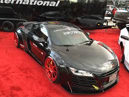 nardo grey r8 the ultimate widebody audi r8 by liberty walk at 2015 sema show