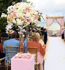 wedding flowers decoration images cancun blush pink wedding arch ceremony decorations