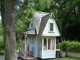 Backyard Play House Backyard Playhouse In Kids Farmhouse With Steep Roof Next To