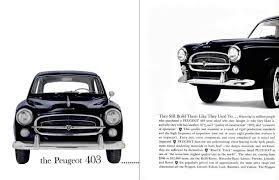 the car peugeot peugeot 403 u2013 fleming u0027s bond