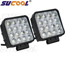 12 volt lighting for cabin sucool 2pcs one pack 4 inch square 48w led work light off road flood