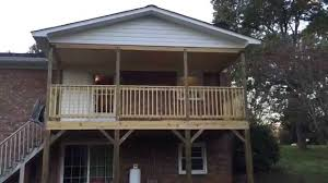 forestieri exteriors covered deck with gable roof youtube