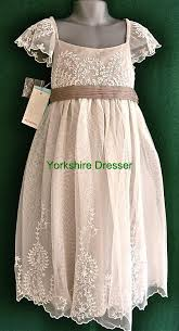 new monsoon girls ivory ayla lace tulle party bridesmaid dress 8