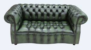 green antique leather chesterfield sofa designersofas4u