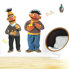 bert u0026 ernie giant wall decal amazon com