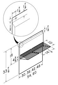 Range Hoods Stainless Steel Backsplash With Shelves Available - Broan backsplash