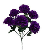 purple carnations 60 blue carnations wedding bridal bouquet silk flowers