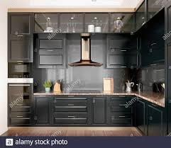 modern kitchen black cabinets modern interior design kitchen with black marble black