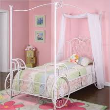 white twin size metal bed frame with canopy steps for assembling