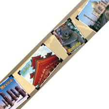 around the world photo classroom display border primary school
