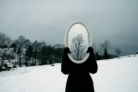 effect mirror nature snow tree image 355045 on favim