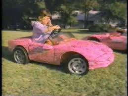 barbie jeep power wheels 90s power wheel barbie corvette 1980 s youtube