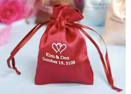 personalized goodie bags wedding ideas personalized satin bags