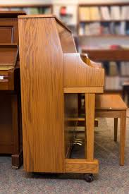 Oak Studio Desk by Amro Music Boston 118s Honey Oak Studio Piano Sold