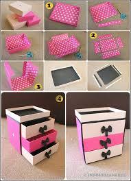 cara membuat lemari buku dari kardus bekas ide kreatif cara membuat kotak kosmetik dari kardus bekas