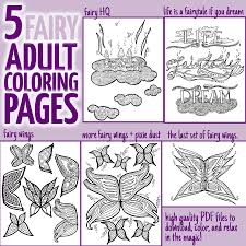 5 fairy coloring pages for adults moms and crafters