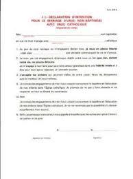 declaration de mariage déclaration d intention pour le mariage avec un non baptisé d4b